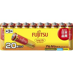 富士通 アルカリ乾電池 ロングライフタイプ 単3形 1.5V 20個パック LR6FL(20S)