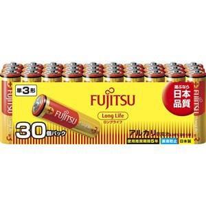 富士通 アルカリ乾電池 ロングライフタイプ 単3形 1.5V 30個パック LR6FL(30S)