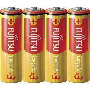 富士通 アルカリ乾電池 ロングライフタイプ 単3形 1.5V 4個パック LR6FL(4S)