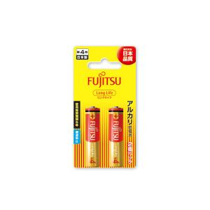 富士通 アルカリ乾電池 ロングライフタイプ (ブリスターパック) 単4形 1.5V 2個パック LR03FL(2B)