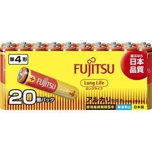 富士通 アルカリ乾電池 ロングライフタイプ 単4形 1.5V 20個パック LR03FL(20S)