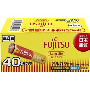 富士通 アルカリ乾電池 ロングライフタイプ 単4形 1.5V 40個パック LR03FL(40S)