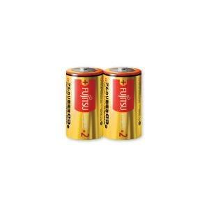 富士通 アルカリ乾電池 ロングライフタイプ 単2形 1.5V 2個パック LR14FL(2S)