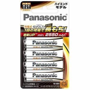 パナソニック 充電式エボルタ 単3形4本パック(ハイエンドモデル) BK-3HLD/4B