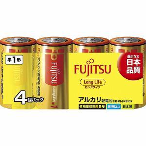 富士通 LR20FL-2(4S)  アルカリ乾電池 ロングライフタイプ 単1型 4個パック
