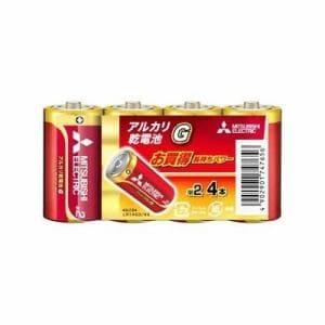 三菱 LR14GD4S 【単2形】 4本 アルカリ乾電池 「アルカリG」