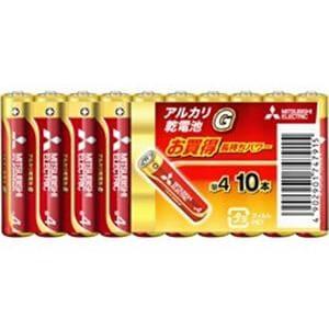 三菱 LR6GD2BP 【単4形】 10本 アルカリ乾電池 「アルカリG」
