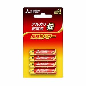 三菱 LR03GD/4BP 【単4形】4本 アルカリ乾電池 「アルカリG」