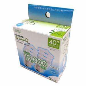 オーム電機 EFD10ED/8-SPN-2P 電球形蛍光灯 スパイラル形 E26 40形相当 昼光色 エコデンキュウ 2個入