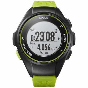 エプソン Q-10G GPSランニングウオッチ 「Wristable GPS(リスタブルGPS)」 グリーン