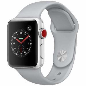 アップル(Apple) MQKF2J/A Apple Watch Series 3(GPS + Cellularモデル) 38mm シルバーアルミニウムケースとフォッグスポーツバンド
