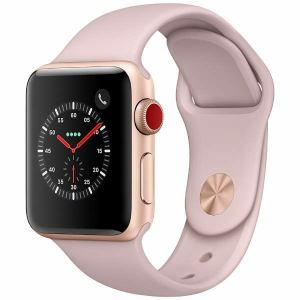 アップル(Apple) MQKH2J/A Apple Watch Series 3(GPS + Cellularモデル) 38mm ゴールドアルミニウムケースとピンクサンドスポーツバンド