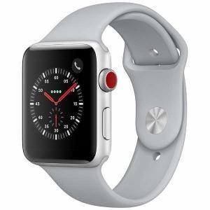 アップル(Apple) MQKM2J/A Apple Watch Series 3(GPS + Cellularモデル) 42mm シルバーアルミニウムケースとフォッグスポーツバンド