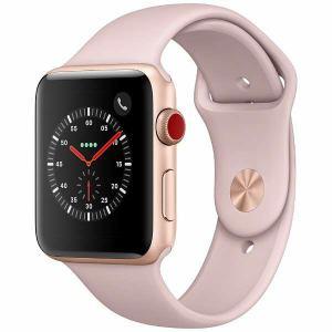 アップル(Apple) MQKP2J/A Apple Watch Series 3(GPS + Cellularモデル) 42mm ゴールドアルミニウムケースとピンクサンドスポーツバンド