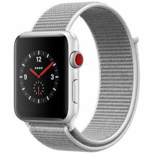 アップル(Apple) MQKQ2J/A Apple Watch Series 3(GPS + Cellularモデル) 42mm シルバーアルミニウムケースとシーシェルスポーツループ