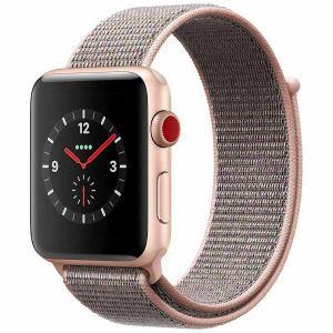 アップル(Apple) MQKT2J/A Apple Watch Series 3(GPS + Cellularモデル) 42mm ゴールドアルミニウムケースとピンクサンドスポーツループ