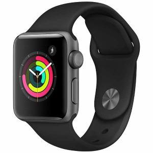 アップル(Apple) MQKV2J/A Apple Watch Series 3(GPS) 38mm スペースグレイアルミニウムケースとブラックスポーツバンド