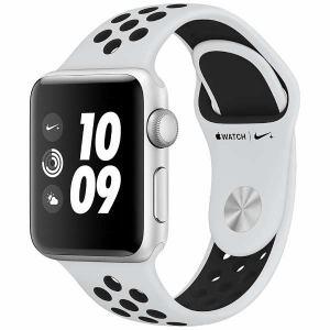 アップル(Apple) MQKX2J/A Apple Watch Nike+(GPS) 38mm シルバーアルミニウムケースとピュアプラチナ/ブラックNikeスポーツバンド
