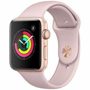 アップル(Apple) MQL22J/A Apple Watch Series 3(GPS) 42mm ゴールドアルミニウムケースとピンクサンドスポーツバンド