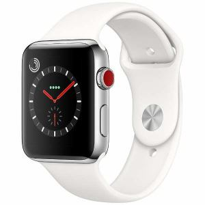 アップル(Apple) MQLY2J/A Apple Watch Series 3(GPS + Cellularモデル) 42mm ステンレススチールケースとソフトホワイトスポーツバンド