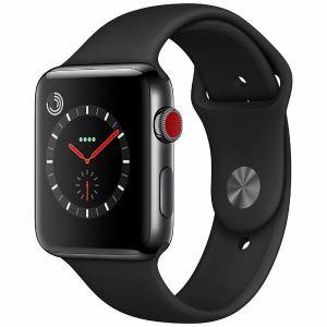 アップル(Apple) MQM02J/A Apple Watch Series 3(GPS + Cellularモデル) 42mm スペースブラックステンレススチールケースとブラックスポーツバンド