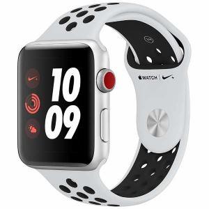 アップル(Apple) MQME2J/A Apple Watch Nike+(GPS + Cellularモデル) 42mm シルバーアルミニウムケースとピュアプラチナ/ブラックNikeスポーツバンド