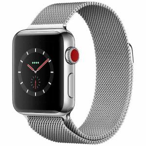 アップル(Apple) MR1N2J/A Apple Watch Series 3(GPS + Cellularモデル) 38mm ステンレススチールケースとミラネーゼループ