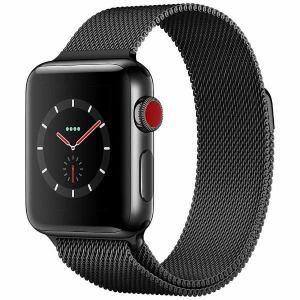 アップル(Apple) MR1Q2J/A Apple Watch Series 3(GPS + Cellularモデル) 38mm スペースブラックステンレススチールケースとスペースブラックミラネーゼループ