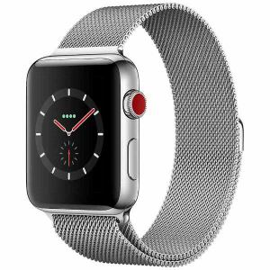 アップル(Apple) MR1U2J/A Apple Watch Series 3(GPS + Cellularモデル) 42mm ステンレススチールケースとミラネーゼループ