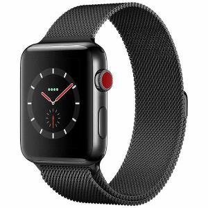 アップル(Apple) MR1V2J/A Apple Watch Series 3(GPS + Cellularモデル) 42mm スペースブラックステンレススチールケースとスペースブラックミラネーゼループ