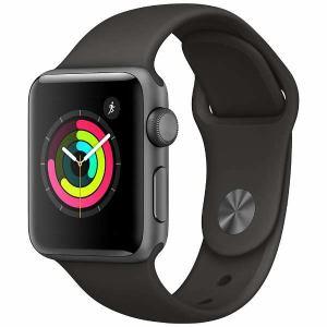 アップル(Apple) MR352J/A Apple Watch Series 3(GPS) 38mm スペースグレイアルミニウムケースとグレイスポーツバンド
