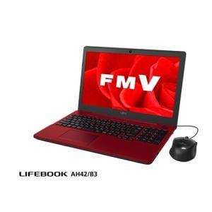 富士通 FMVA42B3R ノートパソコン FMV LIFEBOOK AH42/B3 ルビーレッド