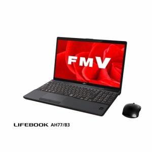 富士通 FMVA77B3B ノートパソコン FMV LIFEBOOK AH77/B3 ブライトブラック