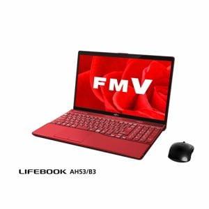 富士通 FMVA53B3R ノートパソコン FMV LIFEBOOK AH53/B3 ガーネットレッド