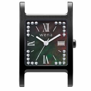ソニー WN-WT12B-H wena wrist(ウェナ リスト)用ヘッド 「Three Hands Square Premium Black Crystal Edition」