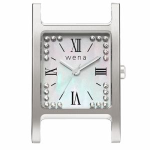 ソニー WN-WT12S-H wena wrist(ウェナ リスト)用ヘッド 「Three Hands Square Silver Crystal Edition」