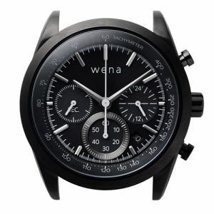 ソニー WH-CS01/B ハイブリッドスマートウォッチ wena wrist Solar Head Chronograph Black (ウェナリスト ソーラーヘッド クロノグラフ ブラック)
