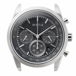 ソニー WH-CS01/S ハイブリッドスマートウォッチ wena wrist Solar Head Chronograph Silver (ウェナリスト ソーラーヘッド クロノグラフ シルバー)
