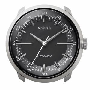 ソニー WH-TM01/S ハイブリッドスマートウォッチ wena wrist Mechanica Head Silver (ウェナリスト メカニカルヘッド 機械式 シルバー)