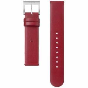 ソニー WC-18E0N-R 電子マネー機能搭載替えバンド カーフ革 「wena wrist leather」(18-18mm・ワインレッド)