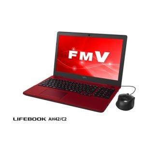 富士通 FMVA42C2R ノートパソコン FMV LIFEBOOK AH42/C2  ルビーレッド