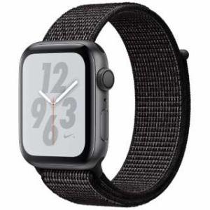 アップル(Apple) Apple Watch Nike+ Series 4(GPSモデル)- 44mm スペースグレイアルミニウムケースとブラックNikeスポーツループ MU7J2J/A