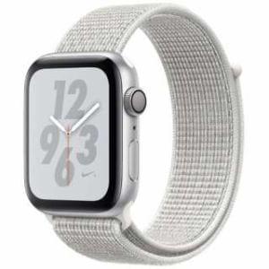 アップル(Apple) Apple Watch Nike+ Series 4(GPSモデル)- 44mm シルバーアルミニウムケースとサミットホワイトNikeスポーツループ MU7H2J/A