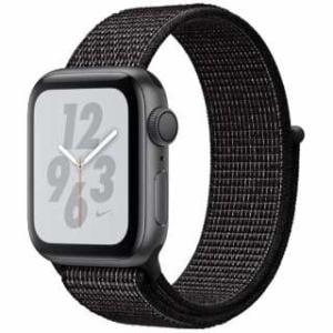 アップル(Apple) Apple Watch Nike+ Series 4(GPSモデル)- 40mm スペースグレイアルミニウムケースとブラックNikeスポーツループ MU7G2J/A