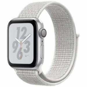アップル(Apple) Apple Watch Nike+ Series 4(GPSモデル)- 40mm シルバーアルミニウムケースとサミットホワイトNikeスポーツループ MU7F2J/A