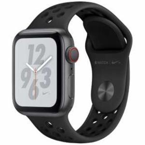 アップル(Apple) Apple Watch Nike+ Series 4(GPS + Cellularモデル)- 40mm スペースグレイアルミニウムケースとアンスラサイト/ブラックNikeスポーツバンド MTXG2J/A