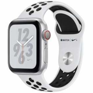 アップル(Apple) Apple Watch Nike+ Series 4(GPS + Cellularモデル)- 40mm シルバーアルミニウムケースとピュアプラチナム/ブラックNikeスポーツバンド MTX62J/A