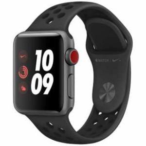 アップル(Apple)  MTGQ2J/A Apple Watch Nike+ Series 3(GPS + Cellularモデル)- 38mmスペースグレイアルミニウムケースとアンスラサイト/ブラックNikeスポーツバンド