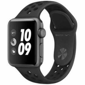 アップル(Apple) MTF12J/A Apple Watch Nike+ Series 3(GPSモデル)- 38mmスペースグレイアルミニウムケースとアンスラサイト/ブラックNikeスポーツバンド