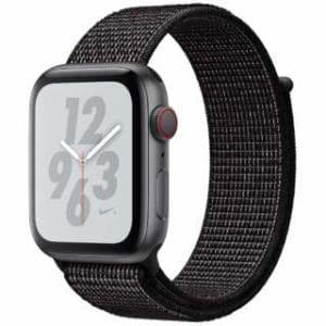 アップル(Apple) Apple Watch Nike+ Series 4(GPS + Cellularモデル)- 44mm スペースグレイアルミニウムケースとブラックNikeスポーツループ MTXL2J/A